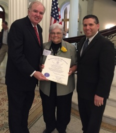 Pat Andrews, CSJ, recognized as one of the Massachusetts Unsung Heroines of 2016