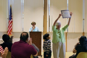 Nancy Braceland, CSJ, Receives Recognition from the Roslindale Community