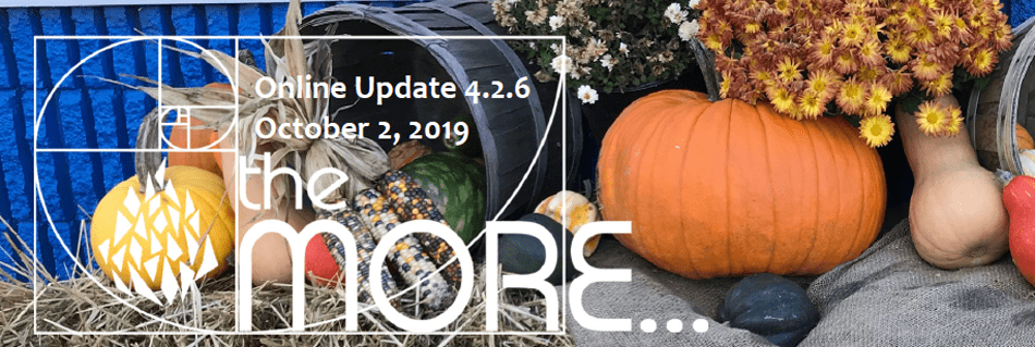 the MORE… Online Updates Volume 4.2.6 October 2, 2019