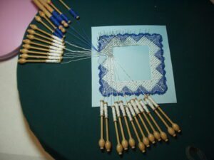 A sample of bobbin lace by Ann Kaufmann, CSJ. Used with permission