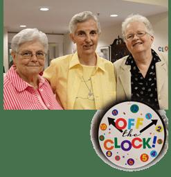 Sisters Pat Andrews, Rose Canney, Marian Batho
